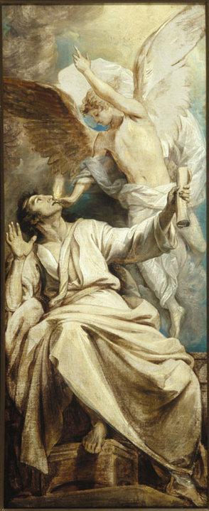 Seraph cleansing Isaiah's Sins