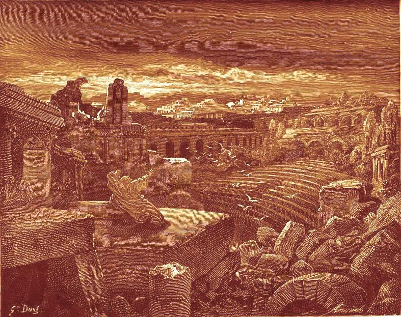 นิมิตที่อิสยาห์เห็นอนาคตของบาบิโลน  ภาพเขียนโดยกุสตาฟ ดอเร่