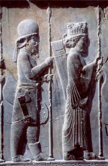 ภาพจาก  http://en.wikipedia.org/wiki/File:Persepolis_Apadana_noerdliche_Treppe_Detail.jpg